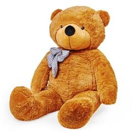 Lumaland Riesen XXL Teddybär braun 120cm Plüsch Kuschelbär - 1