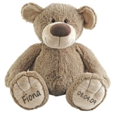 Stofftier Teddy Bär Geschenk mit Namen und Geburtsdatum personalisiert 30cm - 1