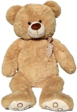 Wagner 9015 - XXL Plüschbär Teddy Bär - 100 cm groß - hell-braun - Teddybär Kuschelbär - 1