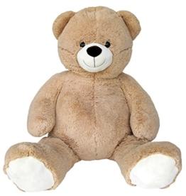 Wagner 9033 - Riesen XXL Teddybär 140 cm groß in hell-braun - Plüschbär Kuschelbär Teddy Bär in beige 1,40 m - 1