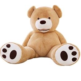 YunNasi Samtig Weich und Kuschelig Riesiger Plüschtier Teddybär (200cm, Hellbraun) - 1