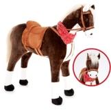Knorrtoys Großes XXL Standpferd Liana mit Sattel Braun Pferd Stehpferd Reitpferd Reiten - 1